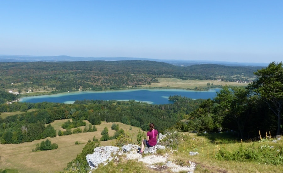 Vue du grand Maclu depuis le pic de l'Aigle (991 mètres d'altitude)