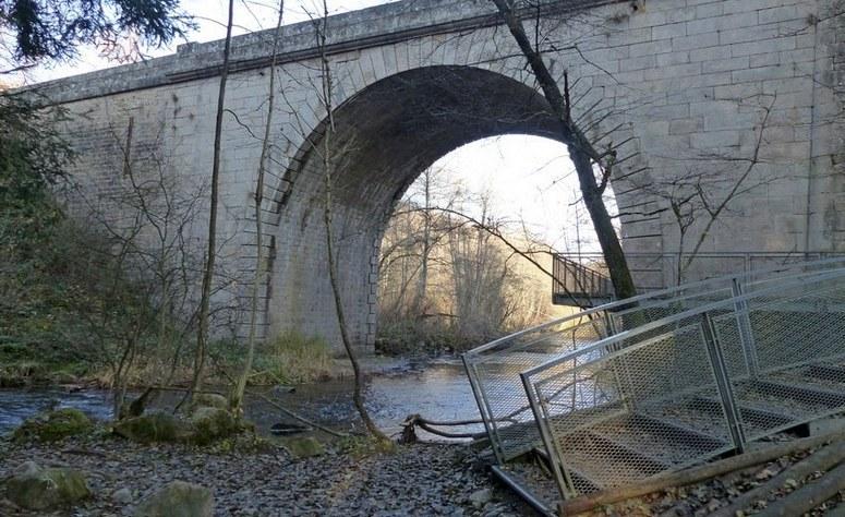 Le pont Dupin, porte d'entrée du saut du Gouloux