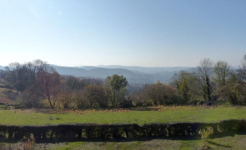 Crêtes des collines du Morvan