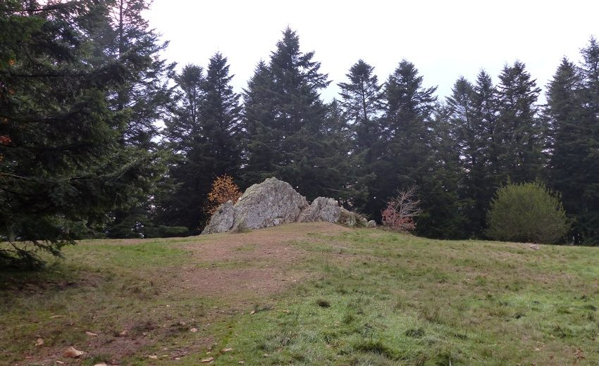 La pierre de la Wivre, à 500 mètres de la porte du Rebout